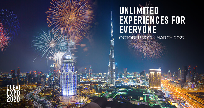 A <strong>DUBAI EXPO</strong> EXPERIENCE <small>LIKE NO OTHER...</small>